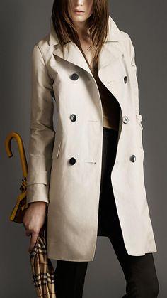 Burberry crisp cotton trench coat