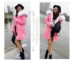 Women Winter  Jacket Coats Thick Parkas Plus Size Real Raccoon Fur Collar Hooded Outwear. Yesterday's price: US $277.00 (226.89 EUR). Today's price: US $163.43 (134.45 EUR). Discount: 41%.