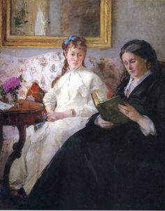 Portrait of the Artist's Mother and Sister via Berthe Morisot      Size: 81.8x101 cm  Medium: oil on canvas