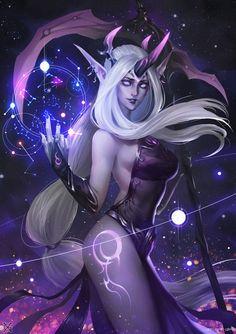 Darkness Ionia: Dark Nebula Soraka  - League of Legends fan art... #Art - #Art #LoveArt http://wp.me/p6qjkV-kPA