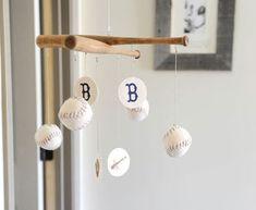 Baseball and Bats - DIY - super cute!