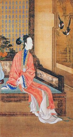 China, hanging scroll, series of 12 paintings showing ladies in their daily livings, decorating first the Summer Palace, next stored in the Forbidden City, Qing Dynasty (1644-1912), before 1732, now stored in Beijing's Palace Museum.