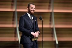 Sam Smithonstage at the 58th Annual GRAMMY Awards on Feb. 15 in Los Angeles