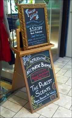 Chalk Boards Across Retail