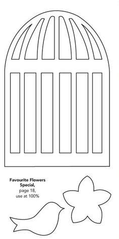 Birdcage template - Papercraft Inspirations
