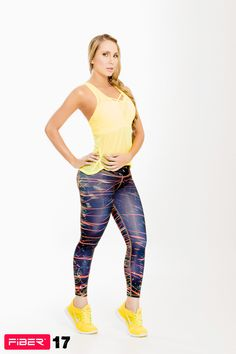 Colorful Print Leggings - 17