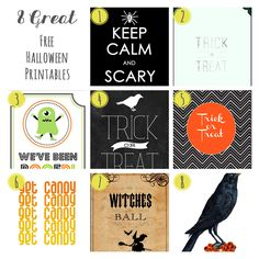 8 Great Free Halloween Printables