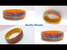 How to make Silk Thread Stone Bangles | Unconventional Pattern | Tutorial - YouTube