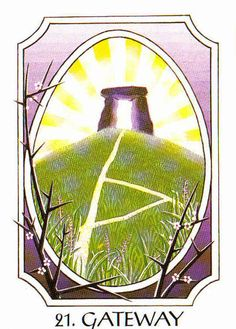 21. Gateway (Thurisaz) - Rune Cards by Ralph Blum Illustrated by Jane Walmsley