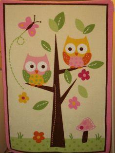 VHTF Circo Love n and Nature Owl Mushroom Area Rug Mat LOVE!