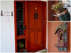 Front Door with a DIY Planter