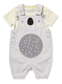Multicoloured Koala Bibshort Set months) from Tu at Sainsbury's ! Your Online Shop for Baby Boy Outfits & Sets Baby Boy Dress, Baby Boy Outfits, Kids Outfits, Cool Baby Clothes, Baby & Toddler Clothing, Baby Design, Baby Wearing, Baby Bodysuit, Baby Kids