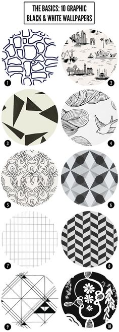 10 great black and white wallpapers   Brooklyn Living