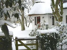 Six exclusive 300 year old luxury thatched holiday cottages in Ireland. Cottages Ireland, White Christmas, Christmas Time, Seaside Cottages, Christmas In Ireland, Luxury Holiday Cottages, Garden Cottage, Luxury Holidays, Modern