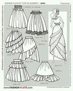 드레스 치마부분 종류