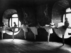 "Ballerinas at Barre Against Round Windows During Rehearsal For ""Swan Lake"" at Grand Opera de Paris Photographic Print by Alfred Eisenstaedt at Art.com"