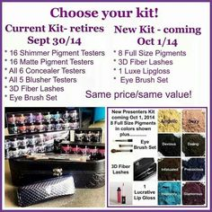 Sign up before October 1st to get the kit on the left. $99  to purchase kit  No monthly website fees Social media drives the sales