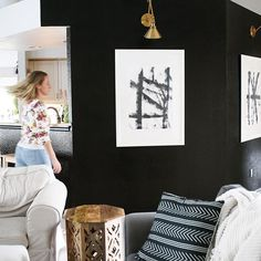 Notice all the dark accent walls popping up all over? I think it has something to do with all of us being brainwashed with white walls for a decade! And then pendulum swings the other way. Do you have any dark or colored accent walls?