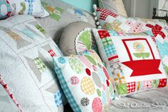 Lori sure knows how to decorate! Cushions in her well-styled cottage.