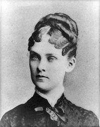"""Alice Hathaway Lee Roosevelt - was the first wife of Theodore Roosevelt. She was stirkingly beautiful, with a cheerful disposition so that she was called """"Sunshine"""" by her friends & family.  They married in 1880.  She died just 2 days after giving birth to thier 1st child, Alice. Her husband was so distraught (he also lost his 49 yr old mother the same day, that he never spoke of it again."""