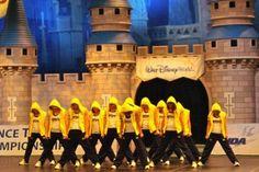 U-M #dance team performing at #Disney World!