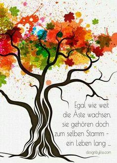 ...egal wie weit die Äste wachsen,......!!!❤❤❤