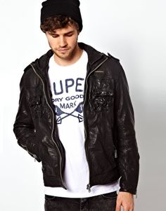 Superdry Sherpa Leather Jacket