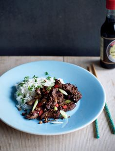 Chinese chilli beef recipe from Fast Cooking by James Martin | Cooked