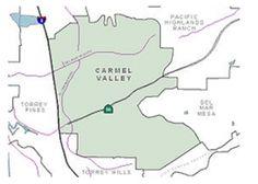 Carmel Valley, San Diego 92130. Finally a map of the Carmel Valley community