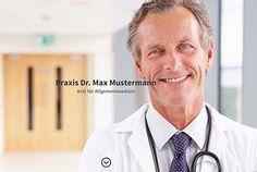 Beispielwebseite für einen Arzt - der WEB-Krüb(l)er - Martin Krüber. Holen Sie sich eine Idee, wie Ihre künftige Webseite aussehen könnte