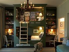 Cool beds - one of the best renditions of bunk beds I've ever seen