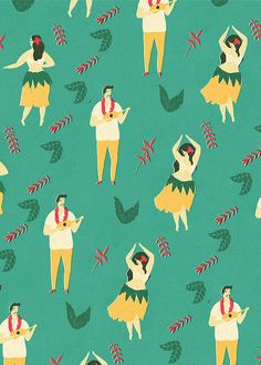 Patterns / Lagom Wrapping Paper by Naomi Wilkinson