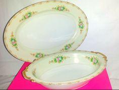 Vintage Spencer Fine China Serving Bowl,Spencer, Japan,Fine China Platter, Vintage China,Vegetable Bowl,Gold Gilt,Japan Serving Bowl,Platter by JunkYardBlonde on Etsy