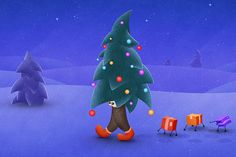 The Traveling Christmas Tree by VladStudio (Full size after the jump)