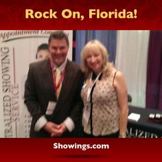 "That's our Ron Fuller with Pat Bertrand from Tropical Realty of Suntree. They're at the ""Rock Your World"" Florida Realtor Expo right now! Raise the roof with Ron at booth #511. Throw your hands in the air! Rock on you crazy kids!"