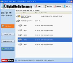 How to recover memory card files, MiniTool Power Data Recovery is the best tool to recover memory card files, the most efficient software for memory card files recovery Data Recovery, Usb Drive, Digital Media, Sd Card, Software, How To Remove, Good Things, Memories, Learning