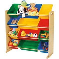 library book display ideas primary colors books and kids furniture - Tot Tutors Book Rack Primary Colors