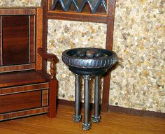 Medieval Brazier with Glowing Coals Dollhouse by CalicoJewels, $42.00
