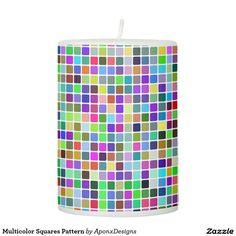 Multicolor Squares Pattern Mug