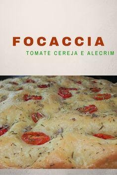 Focaccia super fácil de fazer e deliciosa!!  http://www.menucriativo.com/2015/10/focaccia-de-tomate-cereja-e-alecrim.html