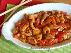Ricetta di Benedetta Parodi,con la sua ricetta di maiale in agrodolce ho voluto cucinare il pollo ed è veramente buonissimo!! Ingredienti pollo e peperoni