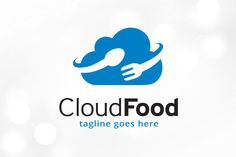 Cloud Food Logo Template by gunaonedesign on @creativemarket