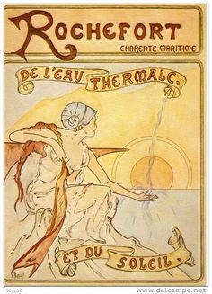 Vintage Travel Poster - Rochefort - De l'Eau Thermale et du Soleil - - Charente Maritime - France.
