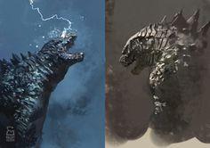 Godzilla studies by vladgheneli.deviantart.com on @deviantART