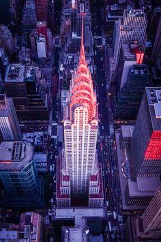 Chrysler Building Aerial Sunset - Pentax 645Z