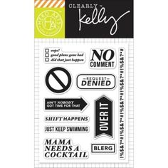 Hero Arts - Clearly Kelly - Clear Stamps -No Commnet