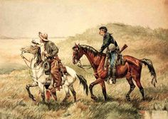 The Couriers by Frederic Remington #art