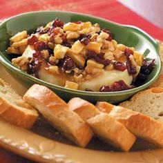 Taste of Home Holiday Newsletter: Thanksgiving Apps & Sides. This week we're focusing on appetizers and side dishes, especially this Fruit and Caramel Brie. It's a sweet-savory appetizer that comes together quickly and without a lot of fuss. Click on the image above to get even more side dish ideas for your holiday meal. Sign up for the FREE Holidays & Celebrations newsletter at www.tasteofhome.com/Sign-Up-For-Free-Newsletters