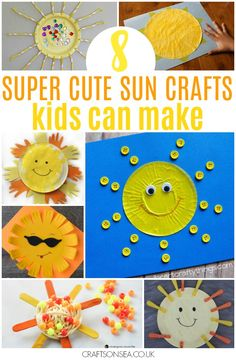 This paper plate sun is the perfect kids craft to record your kids size! It also makes a cute collaborative art project - plus 8 more sun crafts for kids