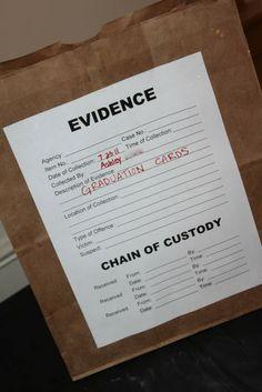 CSI: Crime Scene Themed Graduation Party | Amandita Designs
